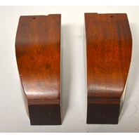 "1 Pair of Solid Wooden Furniture Legs  2 3/8 sq x 5 1/2"" tall - NIB  #241-367"