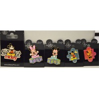 5 Walt Disney World Pins - Baby Mickey & Minnie - Young Mickey & Minnie #020519