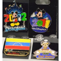 8 Disney Pins-2002,2010,2011, Magic Kindom, Hand in Hand & Atlanta #2000
