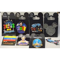 8 Disney Pins-2002,2010,2011, Magic Kindom, Hand in Hand & Atlanta #2000