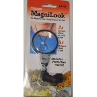 Carson MagniLook #LK-10 Magnifier 2 & 5X Power Hands Free with Pouch