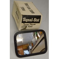 "Signal Stat Convex Mirror Head #7041 Rectangular  5"" x 7"" New Old Stock"