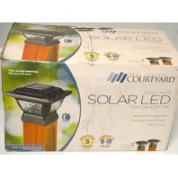 Four Seasons Courtyard #185133 Bright White Solar LED Post Cap Light Set