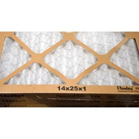 """4 - Standard Pleated Furnace Filter, 14x25x1"""". 3 pack #87357.011425"""