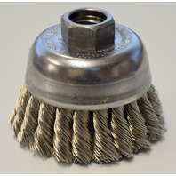 "Weiler Stainless Steel 2 3/4"" Single Row Wire Cup Brush #13258"
