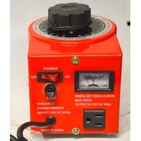 Variable Transformer, 500VAC Max, 0-130V Output, 5 Amp #16VA520TO5
