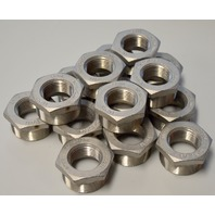 "Stainless Steel Cast Pipe Fitting, Hex Bushing 1"" x 1 1/2"" TC-150-304 - 15 pcs. #114"