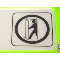 """5 - Deco Signs """"Employees Only"""" self adhesive by HY-KO"""