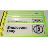 "5 - Deco Signs ""Employees Only"" self adhesive by HY-KO"