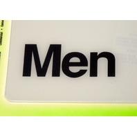 "5 - Deco Signs ""Men"" self adhesive by Hy-KO. #D-4"