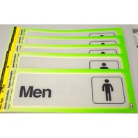 "5 - Deco Signs ""Men"" self adhesive by Hy-KO. #D-4"