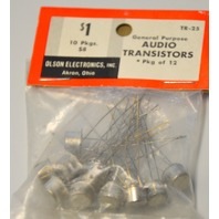 Vintage Olson Electronics Audio Transistors Pkg of 12  #TR-25