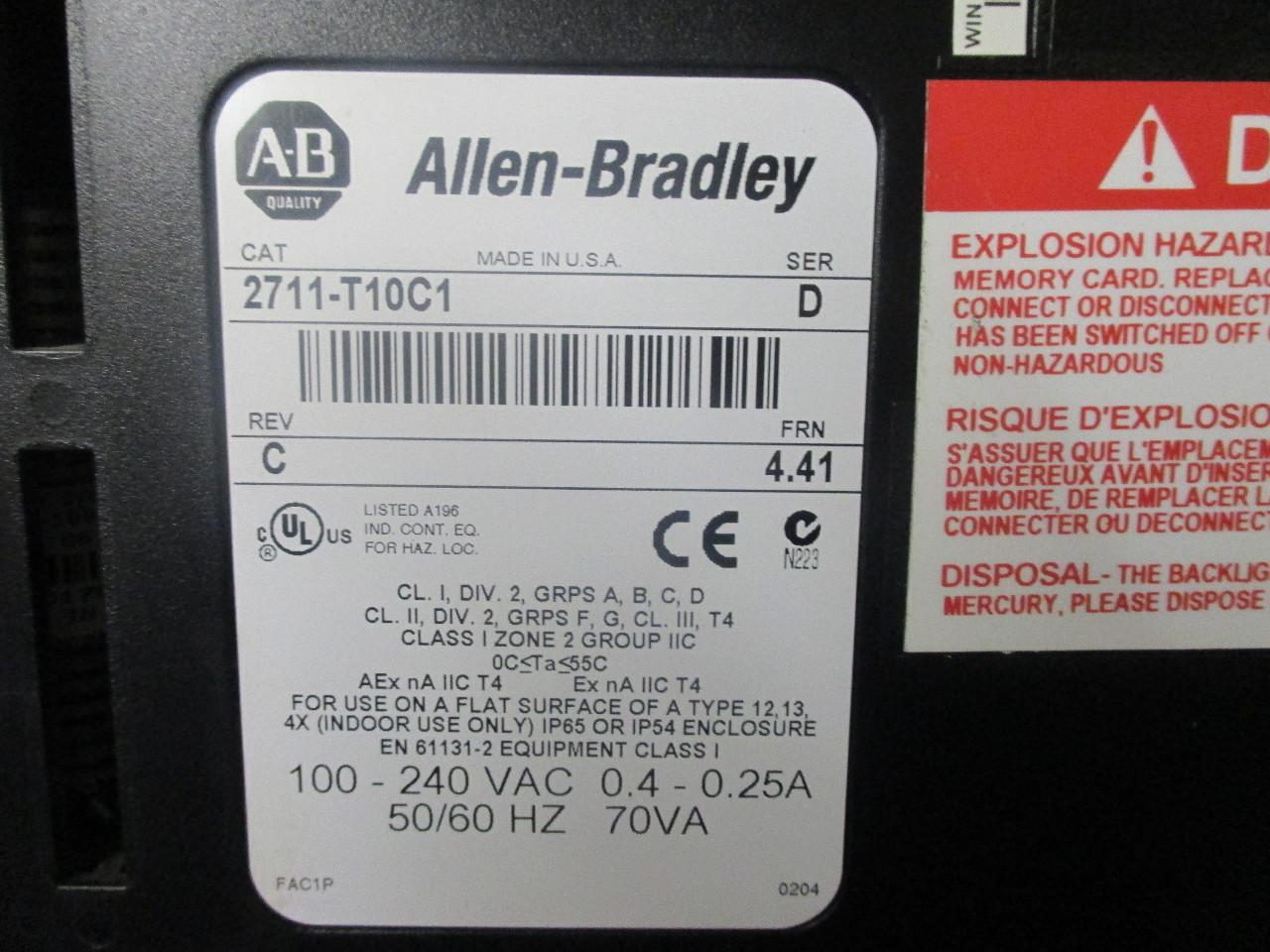 Allen bradley Panelview 1000 User Manual