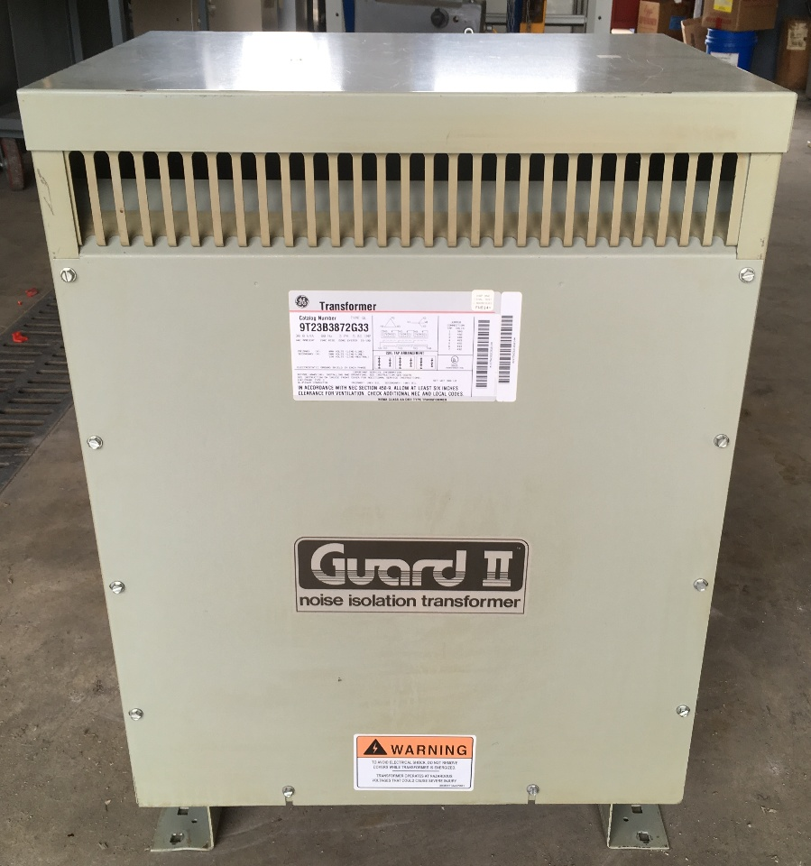 General Electric 9T23B3872G33  Noise Isolation Transformer  30 KVA  480-208Y/120 V