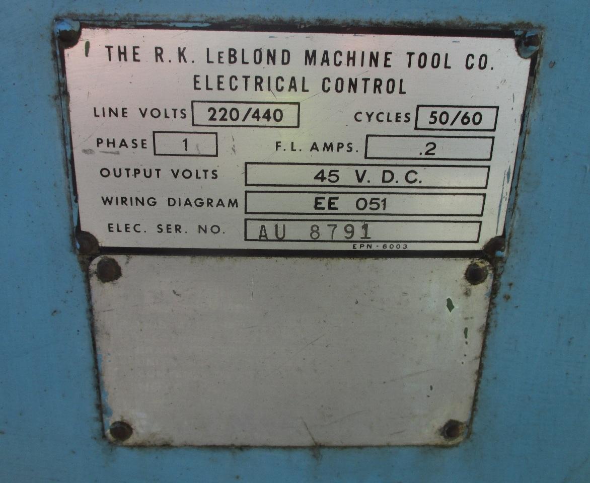 """... LeBlond Regal 15"""" Swing Lathe 1 1/2"""" ..."""