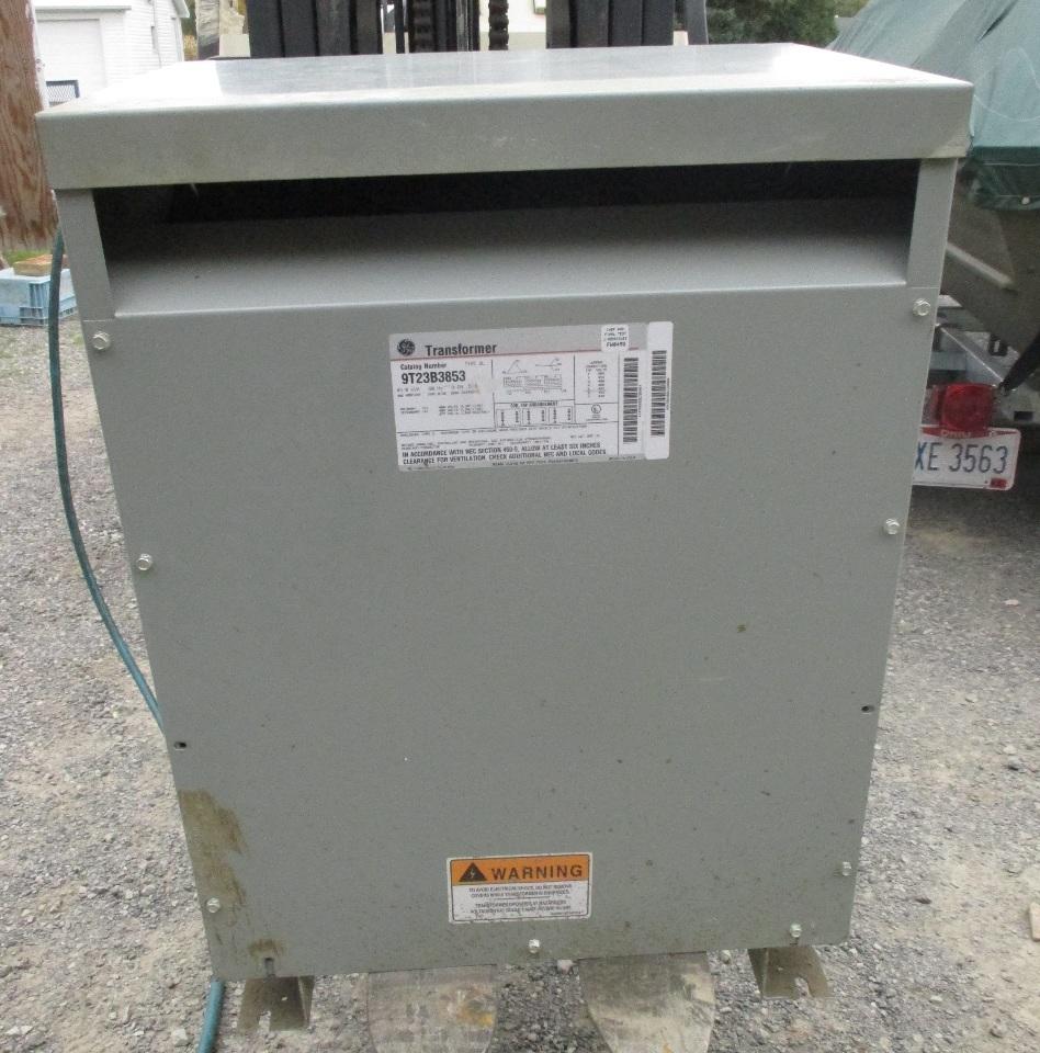 3 Phase General Electric 45KVA Transformer 9T23B3853 HV 480 LV 480/270