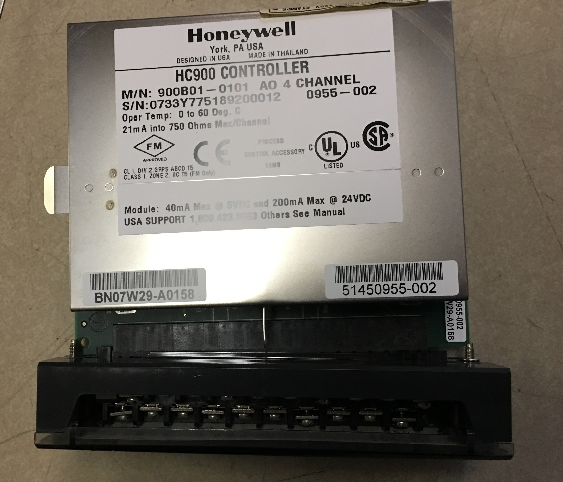 Honeywell HC900 Controller 900B01-0101 AO 4 channel | Daves Industrial  Surplus LLC