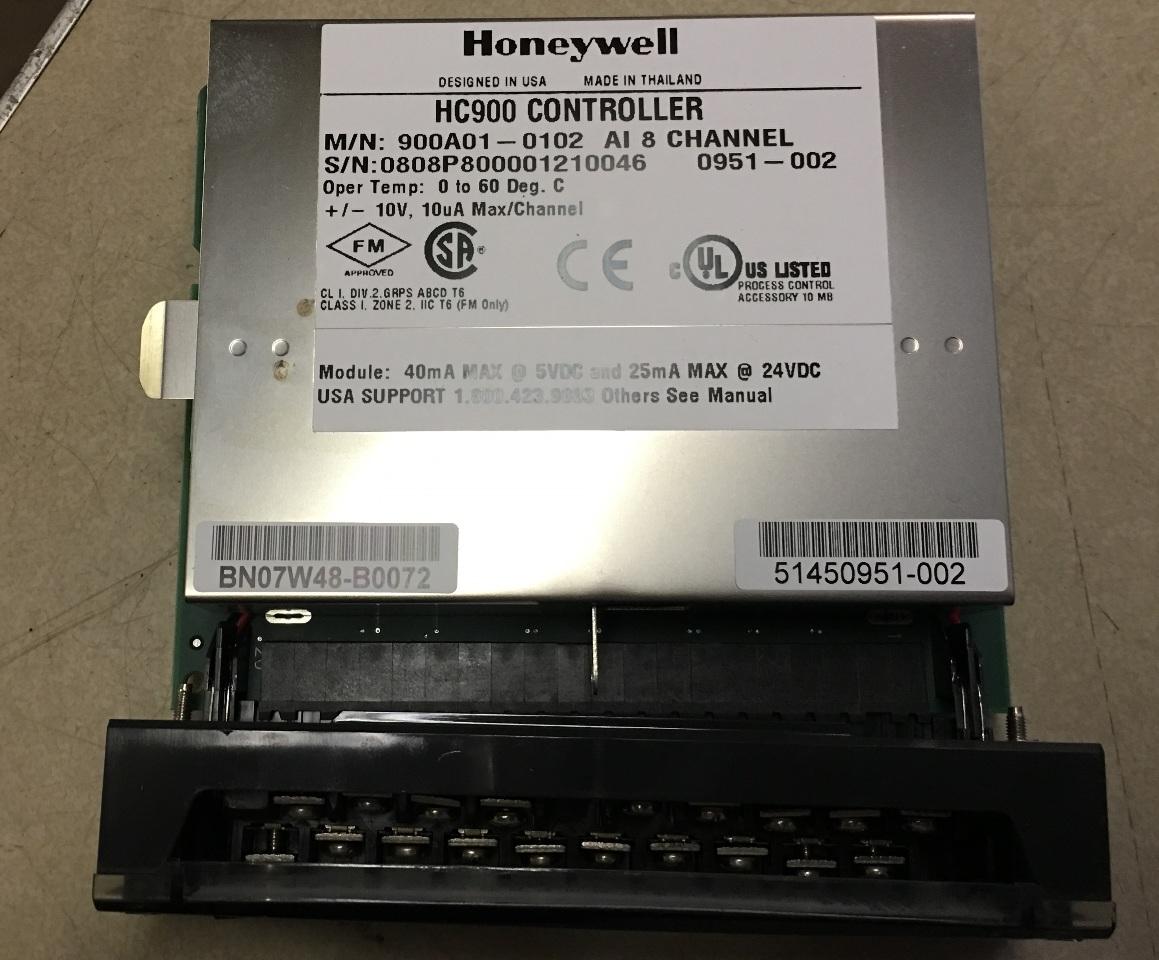 Honeywell HC900 Controller 900A01-0102 8 channel Analog Input