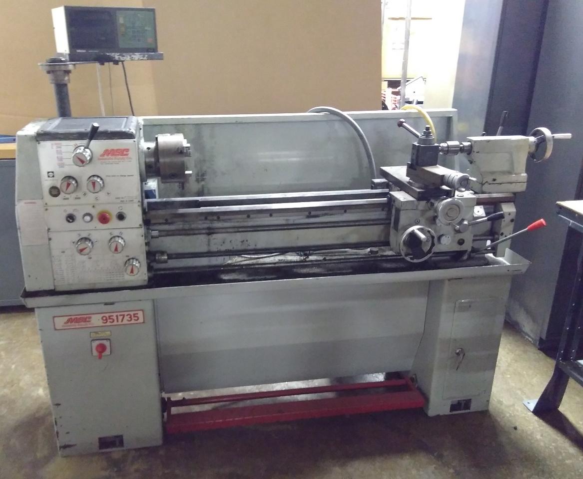 MSC Vectrax 13x 40 Engine Lathe With Mitutoyo DRO   Daves Industrial  Surplus LLC