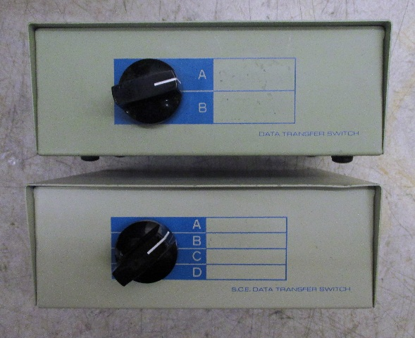 Lot of 2 Data Transfer Switch AB & ABCD
