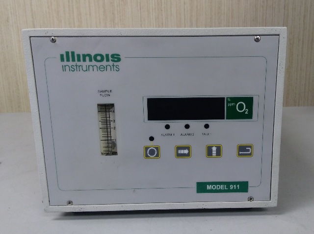 Illinois Instuments Model 911 Oxygen Analyzer with Turbopurge 900-021 attachment