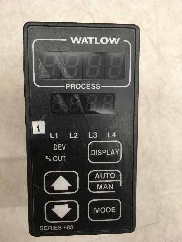Watlow 988A-22FF-AARG Temperature Process Controller, Series 988