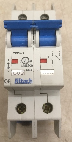 Alteck UL489 E305318, 2 Pole, 240 VAC, Circuit Breaker