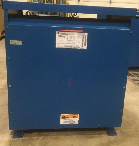 GE 9T23B2672 Transformer 37.5 KVA Primary 506-215 Secondary 240-120V