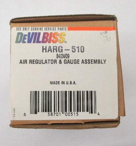 DeVilbiss HARG-510 Air Regulator & Gauge Assembly