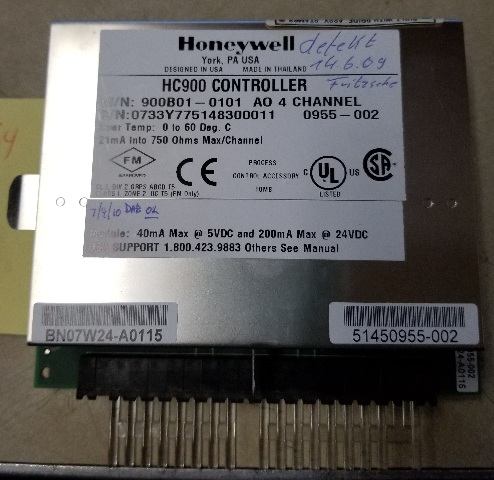 Honeywell controller 4 channel