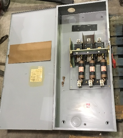 Ge Heavy Duty Fusible Safty Switch TH3365, 400 AMP 600 VAC 3 Phase