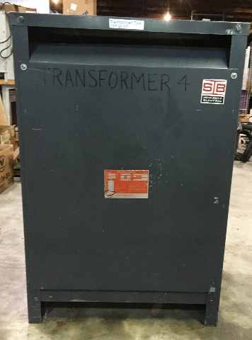 SB Heavy Duty Transformer 75 KVA, 3 Ph, 480-208Y/120 V, Cat. T2H75B