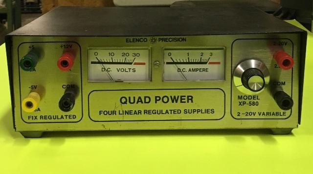 ELENCO PRECISION- QUAD POWER, four linear regulated supplies, MODEL- XP-580