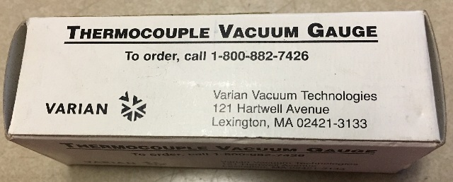 Varian Thermocouple vacuum Gauge KJL-531S