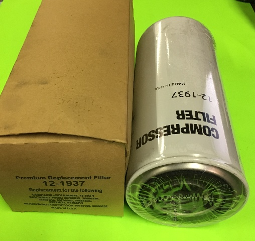 12-1973 Replacement Compressor Filter FIT(Ingersoll Rand/LeROI/ Woodward)See description