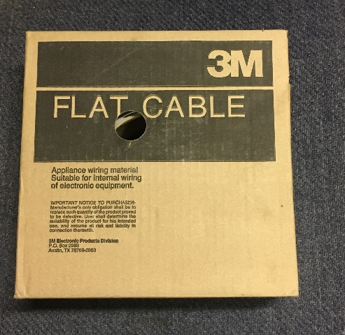 3M Flat Cable/ Appliance wiring material/ 50 feet/Never opened/26 AWG/#3801/34