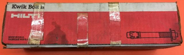 "Kwik Bolt II 000453779 Box of 10 3/4""x8"""