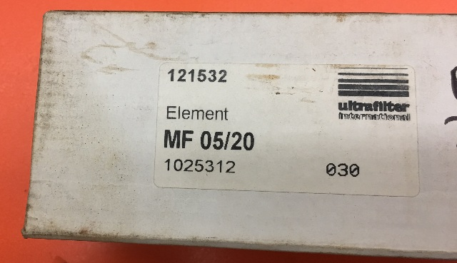 Ultrafilter International 121532 Element MF 05/20