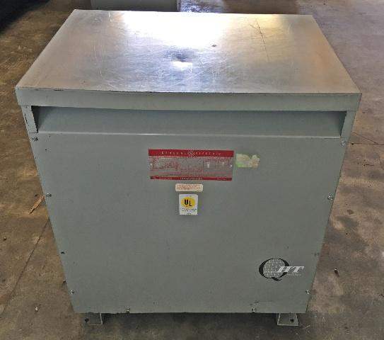 GE  75-KVA 480-208Y/120 3 Phase Transformer 9T23B3874