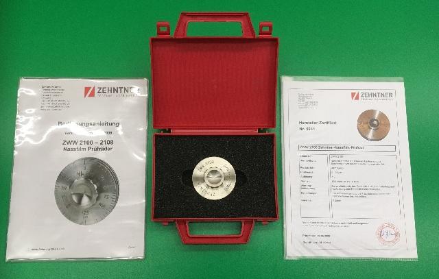 ZEHNTNER Testing Instruments, ZWW 2100 Wet Film Wheel, Manual and Cert.