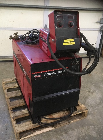Lincoln Electric Power Wave 455 (MIG/Stick) Welder (Code No.10372),  W/ Lincoln Power Feed 10