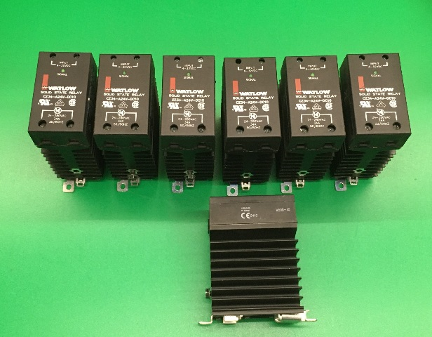 Watlow Solid State Relay/Contactor CZ34-A24V-C-DC10, Lot of 7, 24 to 280VAC, 34A, 50/60 Hz