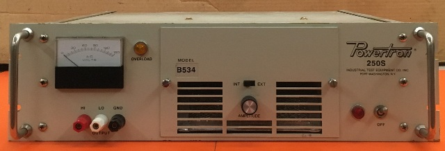 Powertron 250S Industrial Test Equipment/ model No.B534