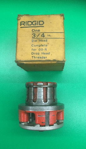 Ridgid One 3/4 in. Die Head Complete for 00-R Drop Head Threader