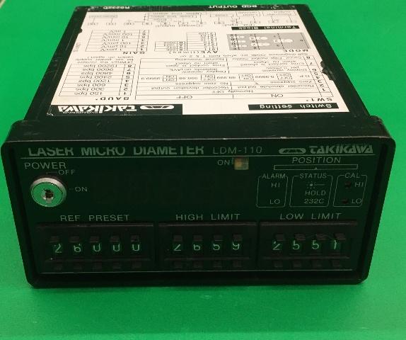 Takikawa Laser Micro Diameter LDM-100-(Works) No Key or Plug