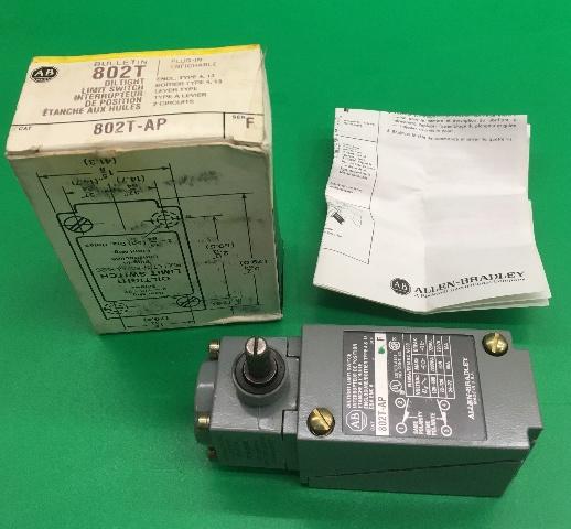 Allen Bradley Oiltight Limit Switch, CAT No: 802T-AP, Type 4 & 13, CSA ENC 4, SER F