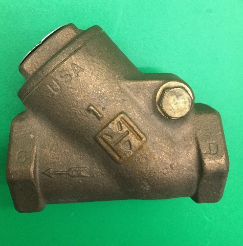 "MILWAUKEE VALVE, 1"" NPT , 158-F, BRONZE SWING CHECK VALVE, 200S, 400W"