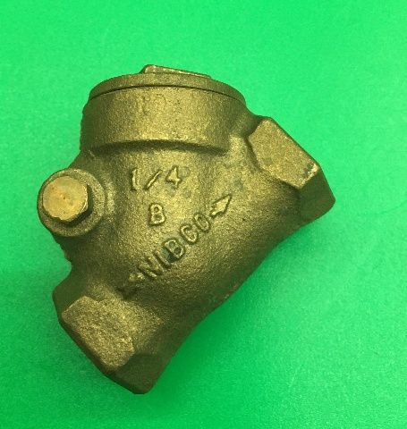 "Nibco® - Check Valve - T433b 1/4"" Bronze Class 150 Check Valve T433B-1/4"""