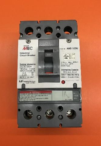 META MEC Industrial Circuit Breaker ABS 103U , 100 amp, 3 poles ,max 480 volt
