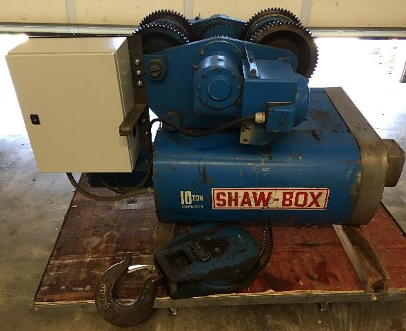 Shawbox 10 Ton Wire Wrope Hoist With Motorized Trolley 460 V